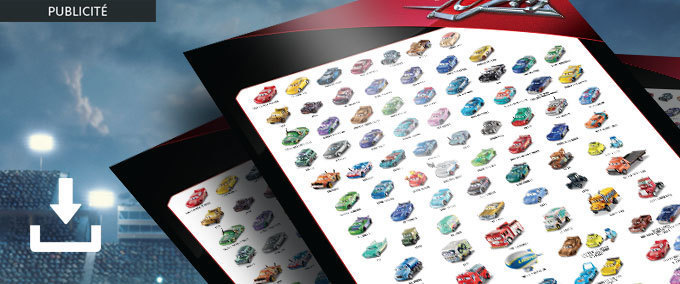 Affiche collector Mattel Cars 3