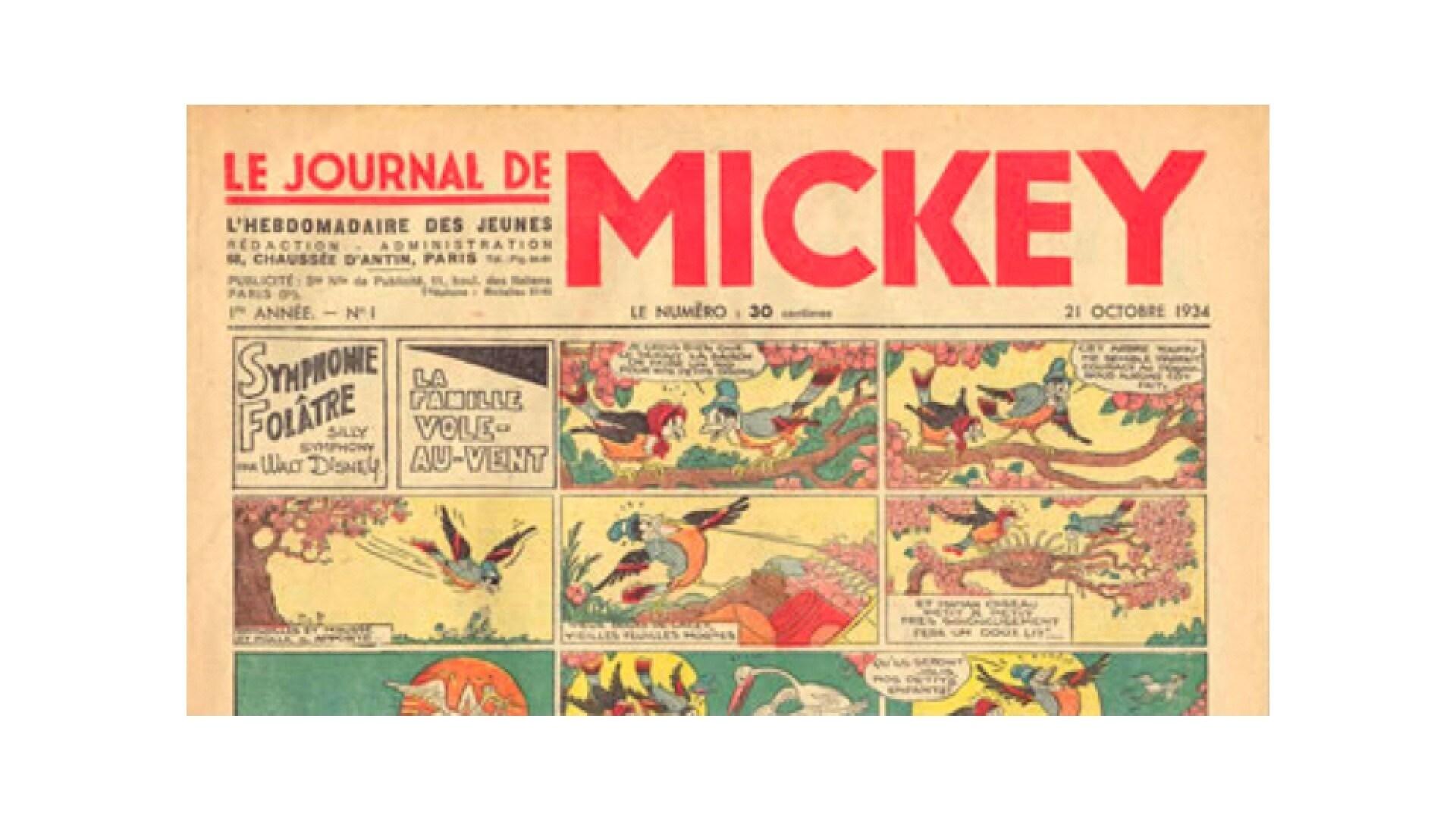 Sortie du premier numéro du Journal de Mickey qui s'impose vite comme le plus célèbre magazine Disney au monde