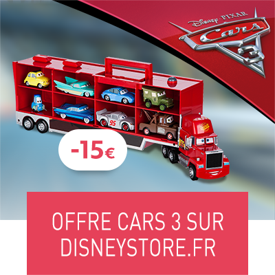 Offre Disneystore.fr Cars 3 (destination thumbnail)