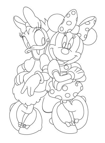 activites coloriage minnie et daisy au printemps