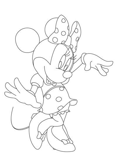 activites coloriage minnie en t