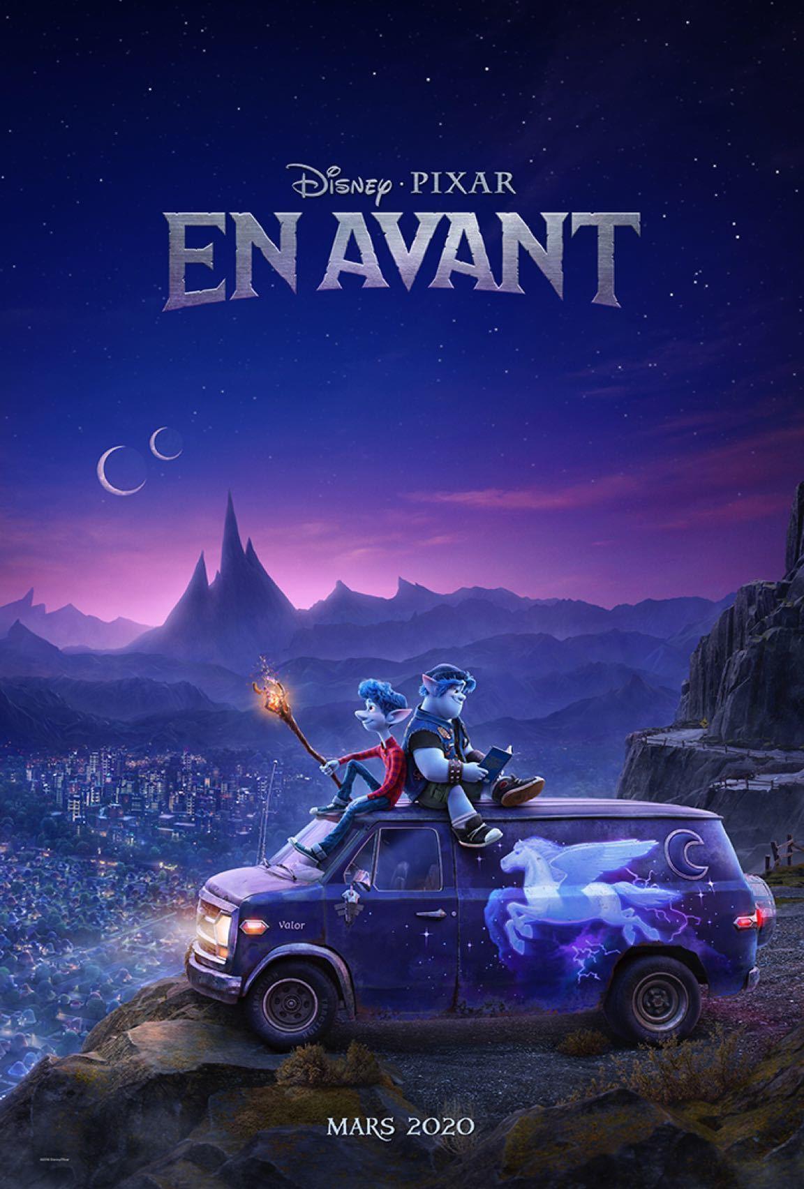 Les deux frères elfes, Ian et Barley, assis dans un van avec la ville en arrière-plan