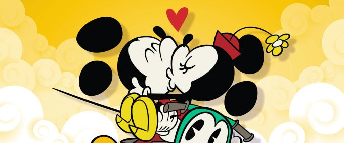 Le top 4 des plus beaux bisous de Mickey et Minnie