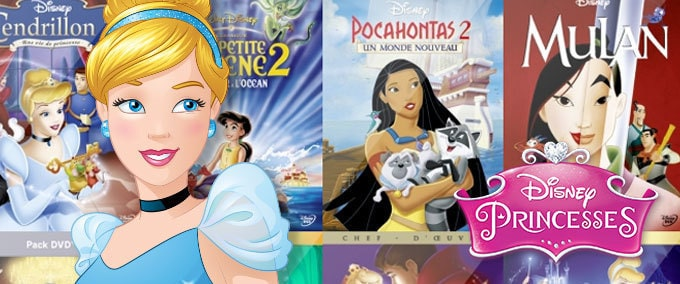 Les princesses Disney en DVD