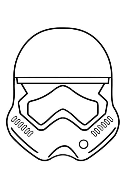 Coloriage Casque Stormtrooper