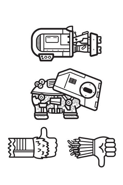 Coloriage Star Wars : engins emoji