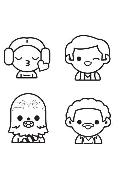 Coloriage Star Wars : Personnages emoji