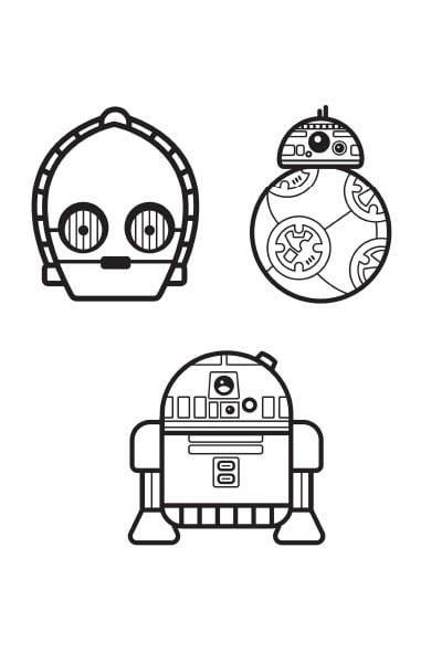 Coloriage Star Wars : Droïdes emoji