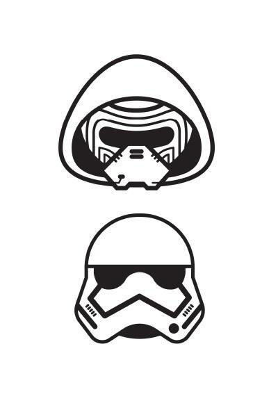 Coloriage Star Wars : stormtrooper emoji