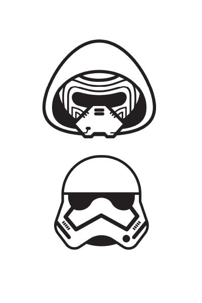 Coloriage Star Wars : stormtrooper emoji