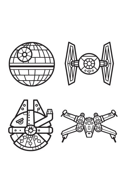 Coloriages star wars saga disney coloriages fr - Coloriage star wars 3 ...