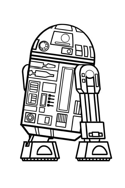 Coloriage Star Wars R2d2