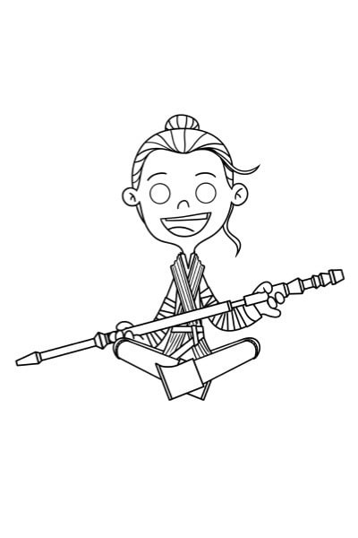 Coloriage Star Wars Rey