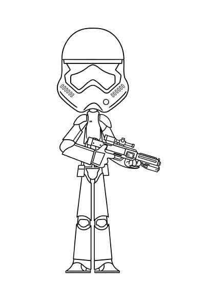 Coloriage Star Wars stormtrooper