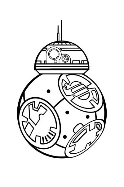 Coloriage Star Wars BB8