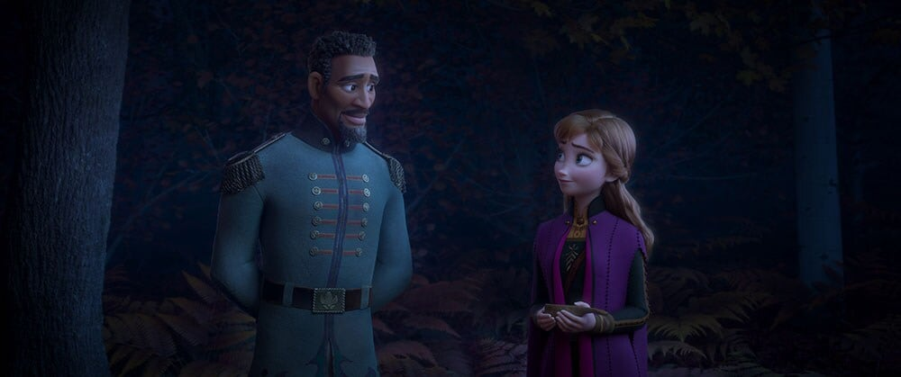 Image of Lieutenant Destin Matthias and Anna from Frozen 2