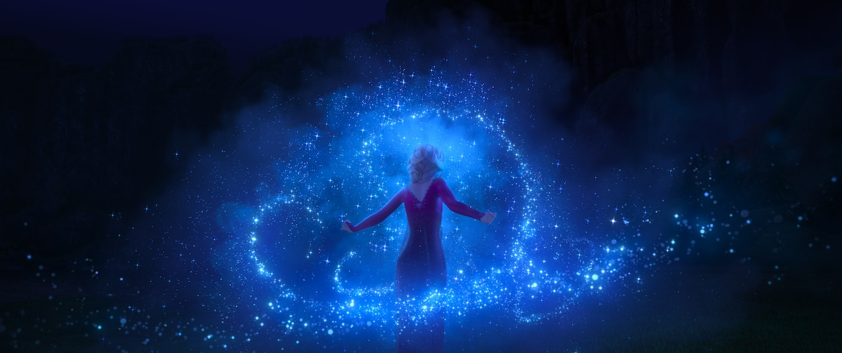 Elsa using magic