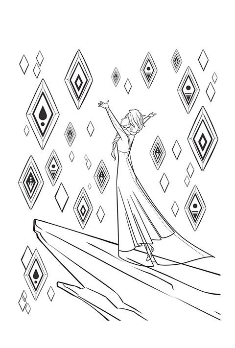 Coloreable - Elsa