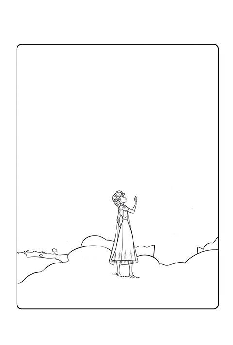 Frozen 2 - Enchanted Forest Doodle Activity Sheet PDF