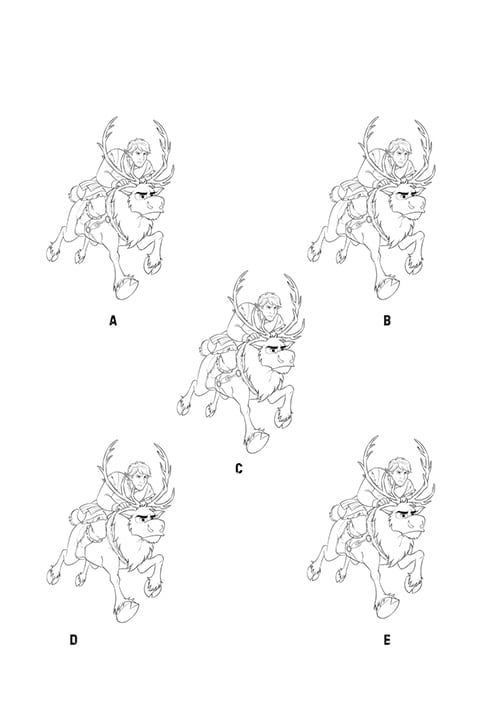 Sven and Kristoff spot the difference activity sheet