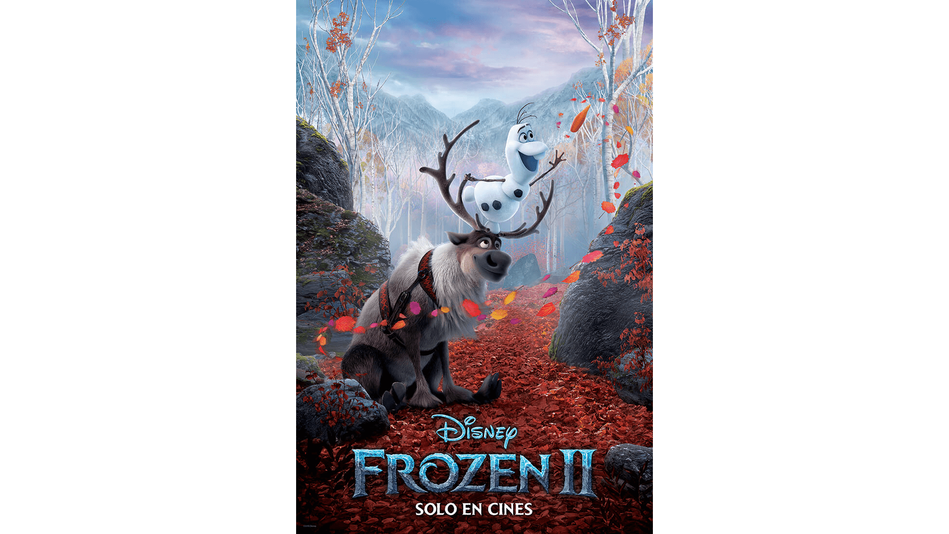 Frozen 2 - Poster Olaf y Sven