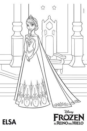 Colorea a Elsa