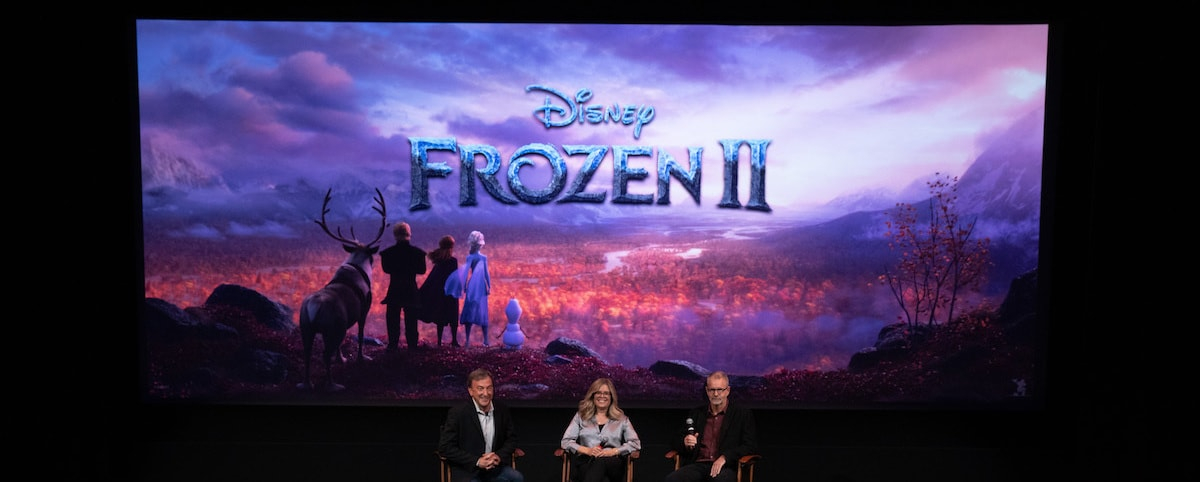 Frozen 2 Creators Peter Del Vecho, Jennifer Lee, and Bill Schwab