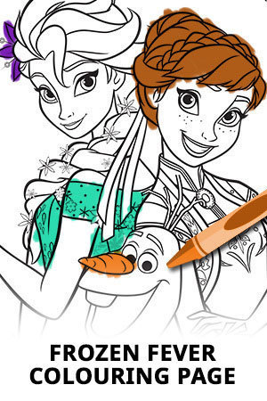 Frozen Fever Colouring