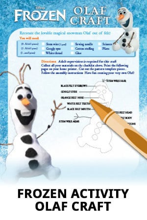 Disney Frozen - Olaf Craft
