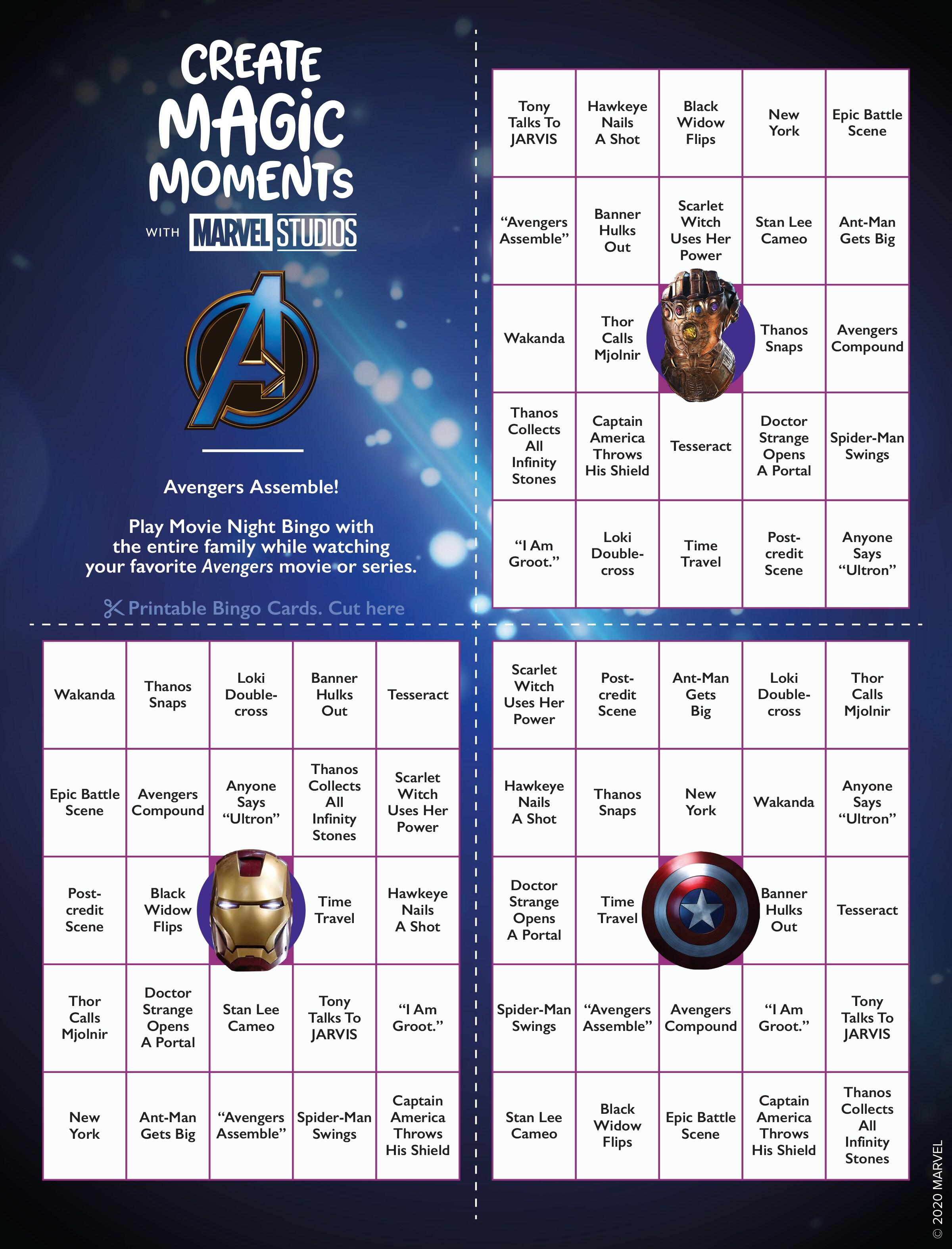 The Avengers Bingo