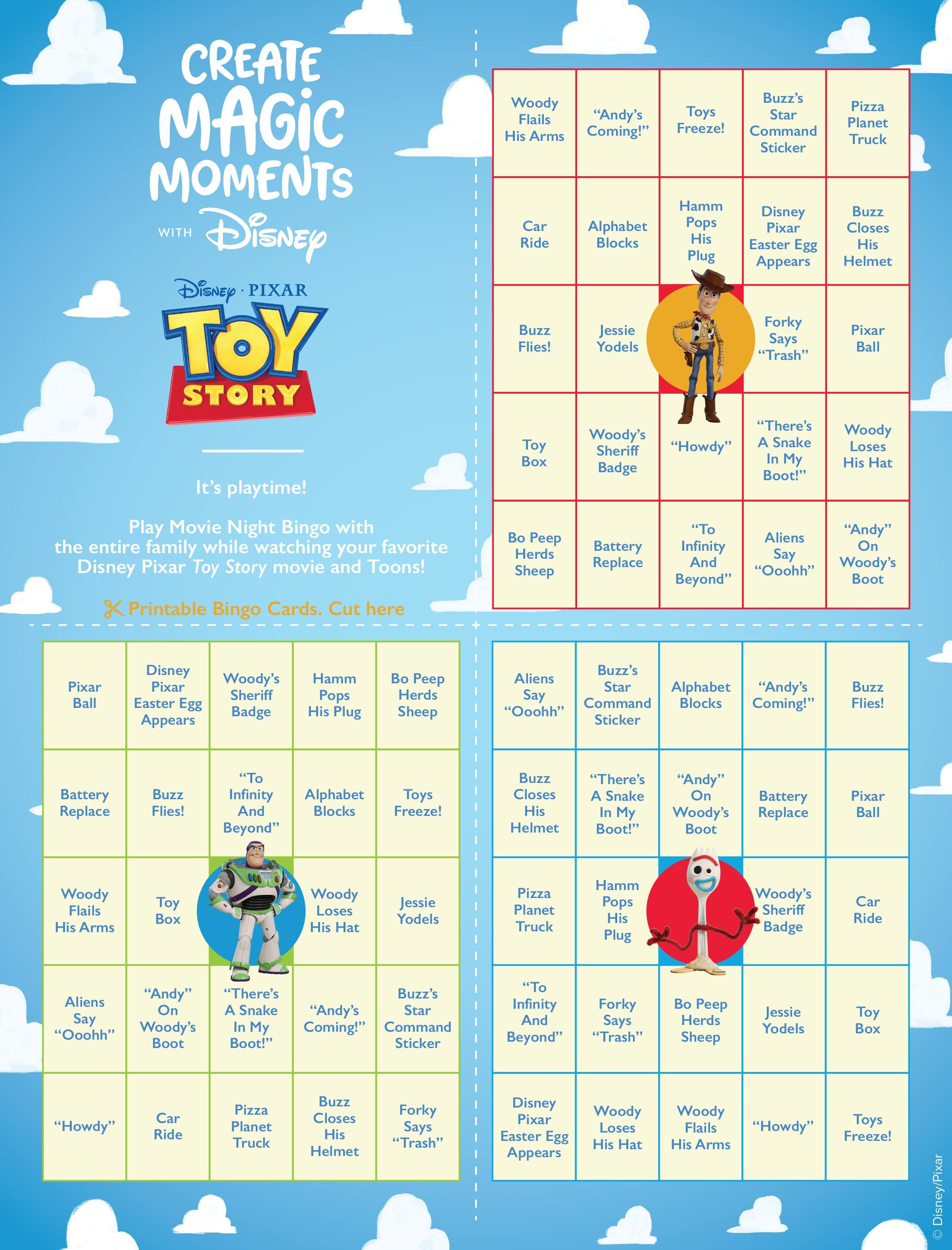Toy Story Bingo