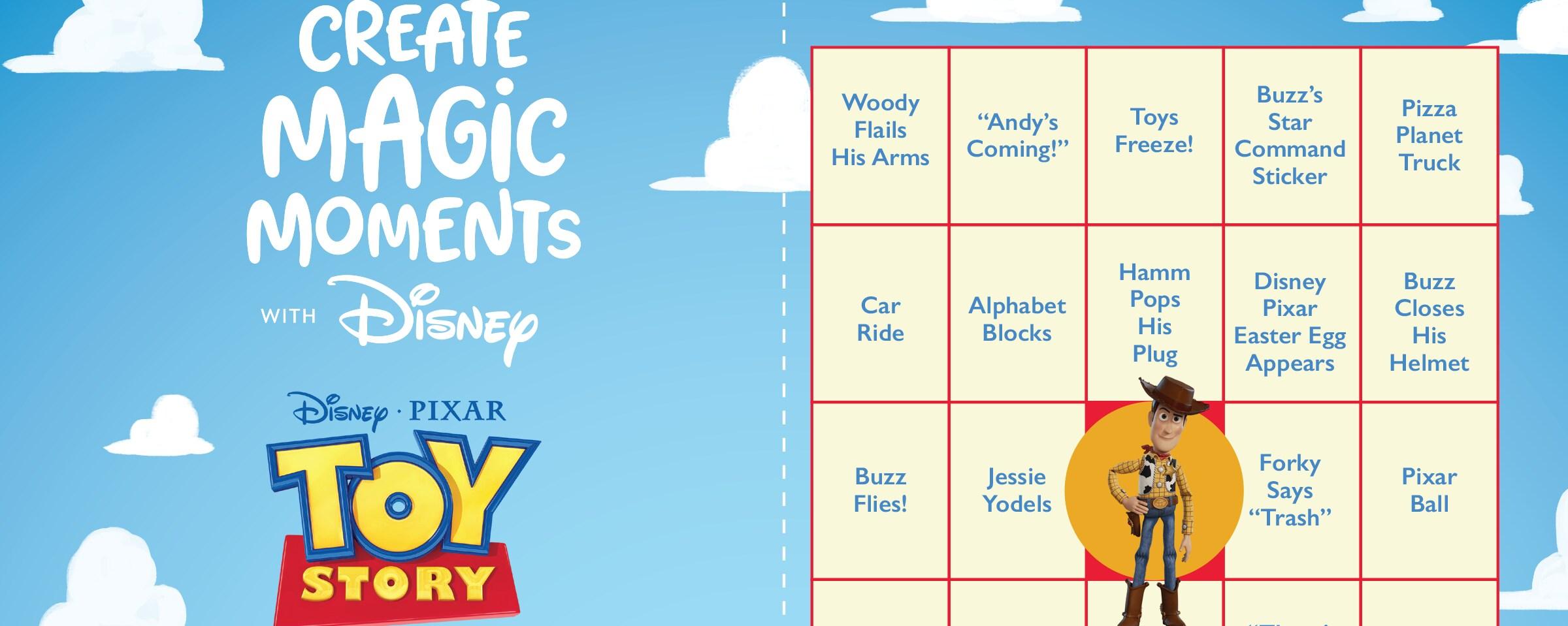 Toy Story Bingo Card