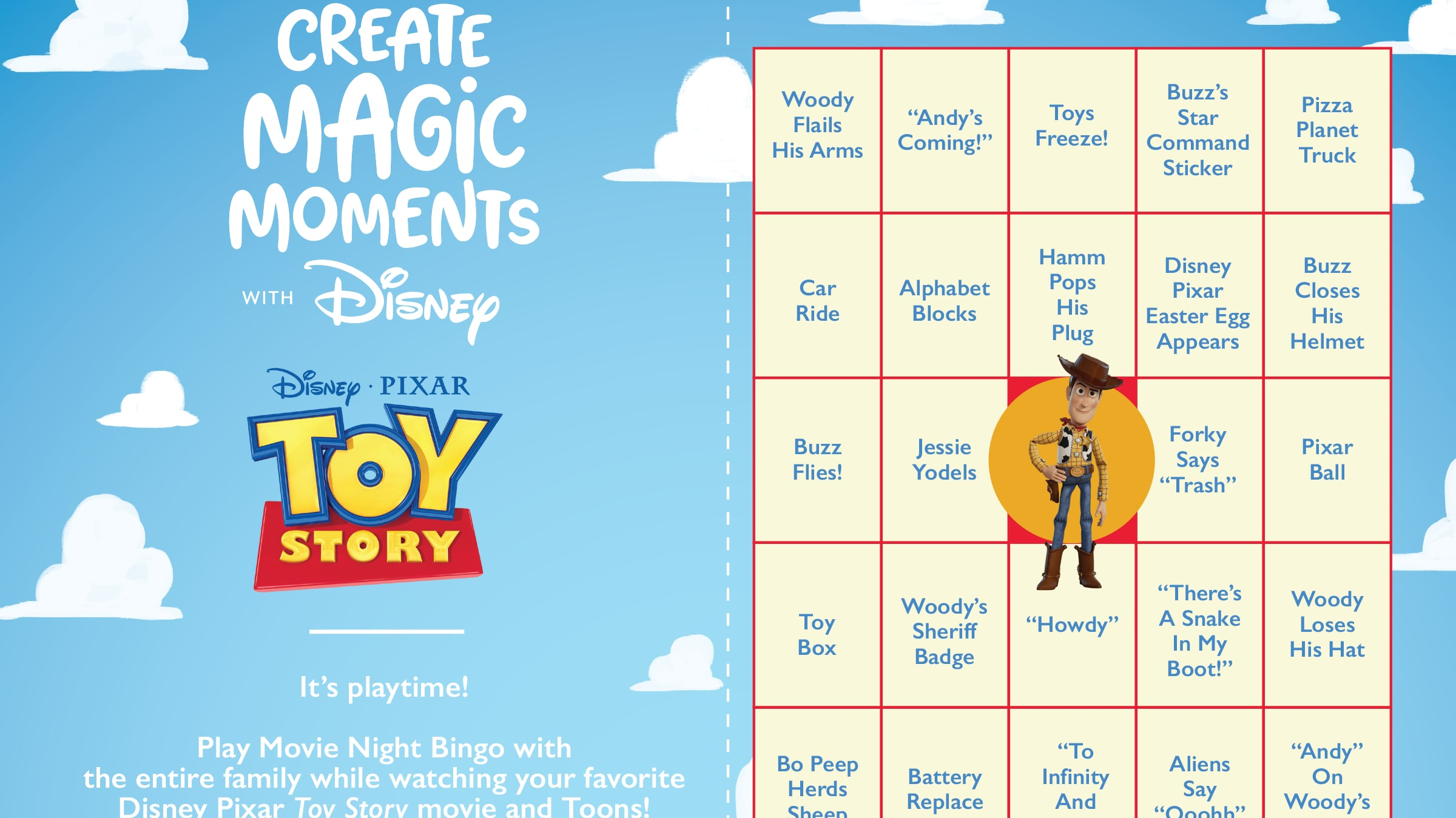 Relive Your Favorite Magic Moments With Movie Time Bingo!