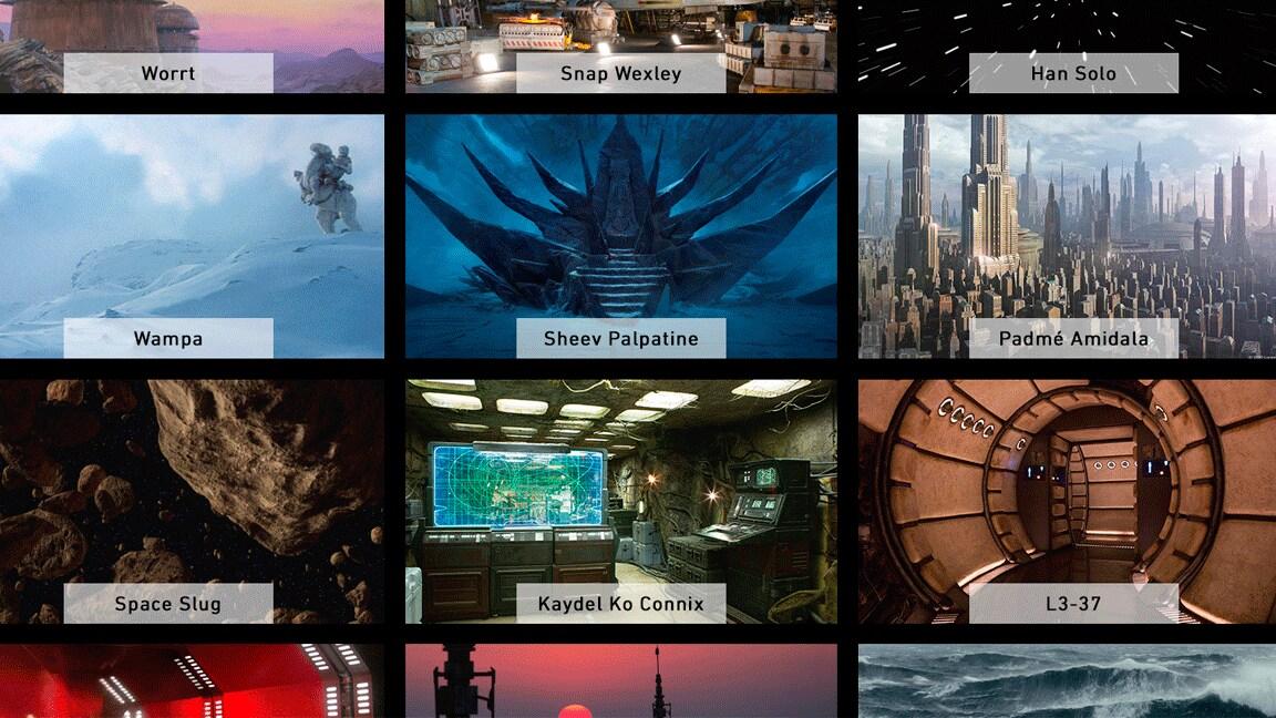 Participe de reuniões em uma galáxia muito, muito distante com planos de fundo de Star Wars