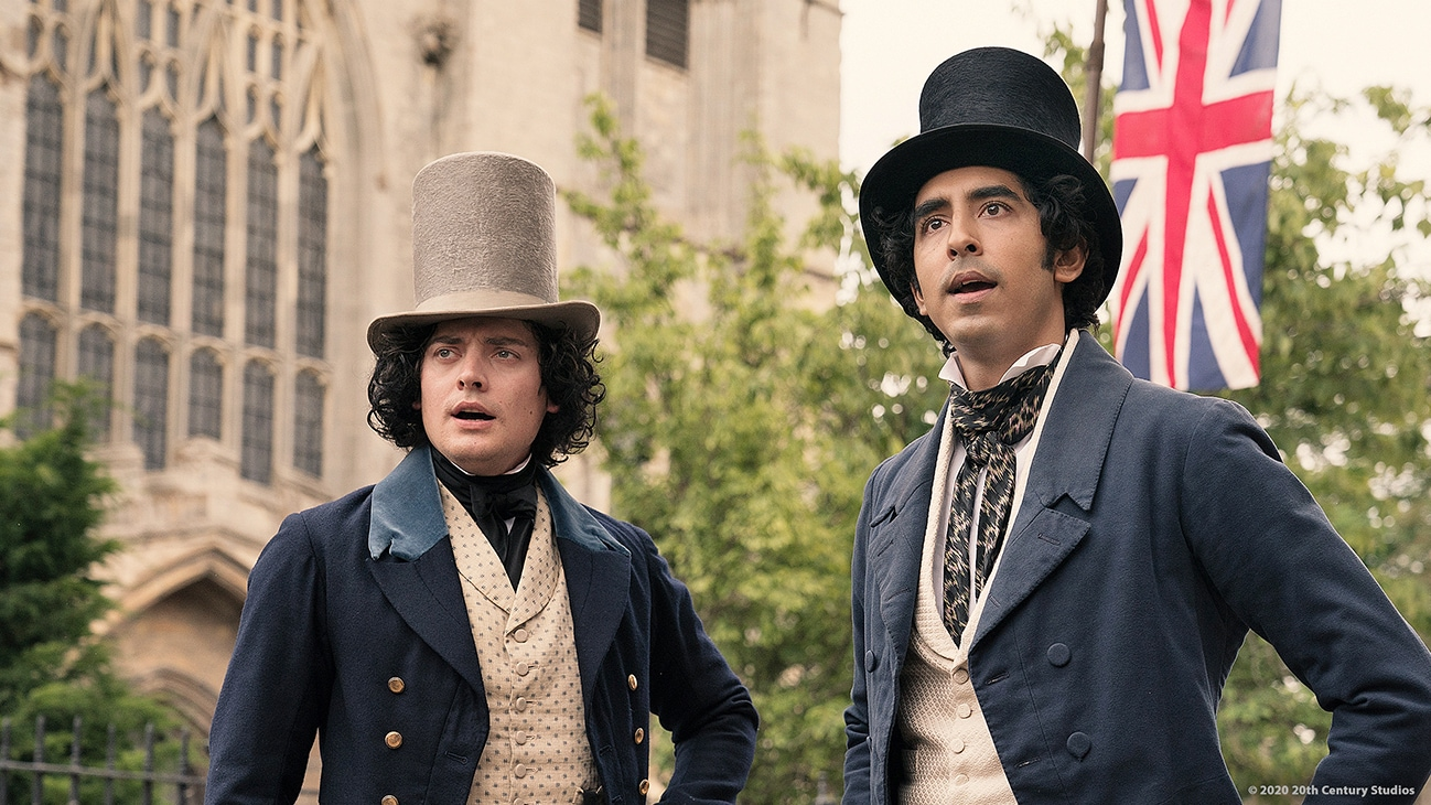"Actors Dev Patel and Aneurin Barnard in the movie ""The Personal History of David Copperfield"""