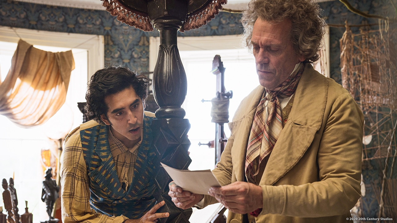 "Actors Dev Patel and Peter Capaldi in the movie ""The Personal History of David Copperfield"""