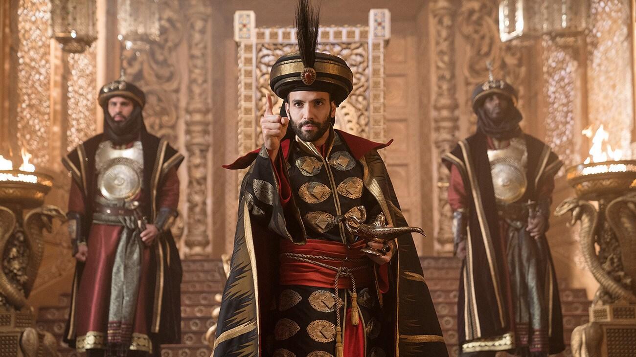 Marwan Kenzari (as Jafar) in Aladdin