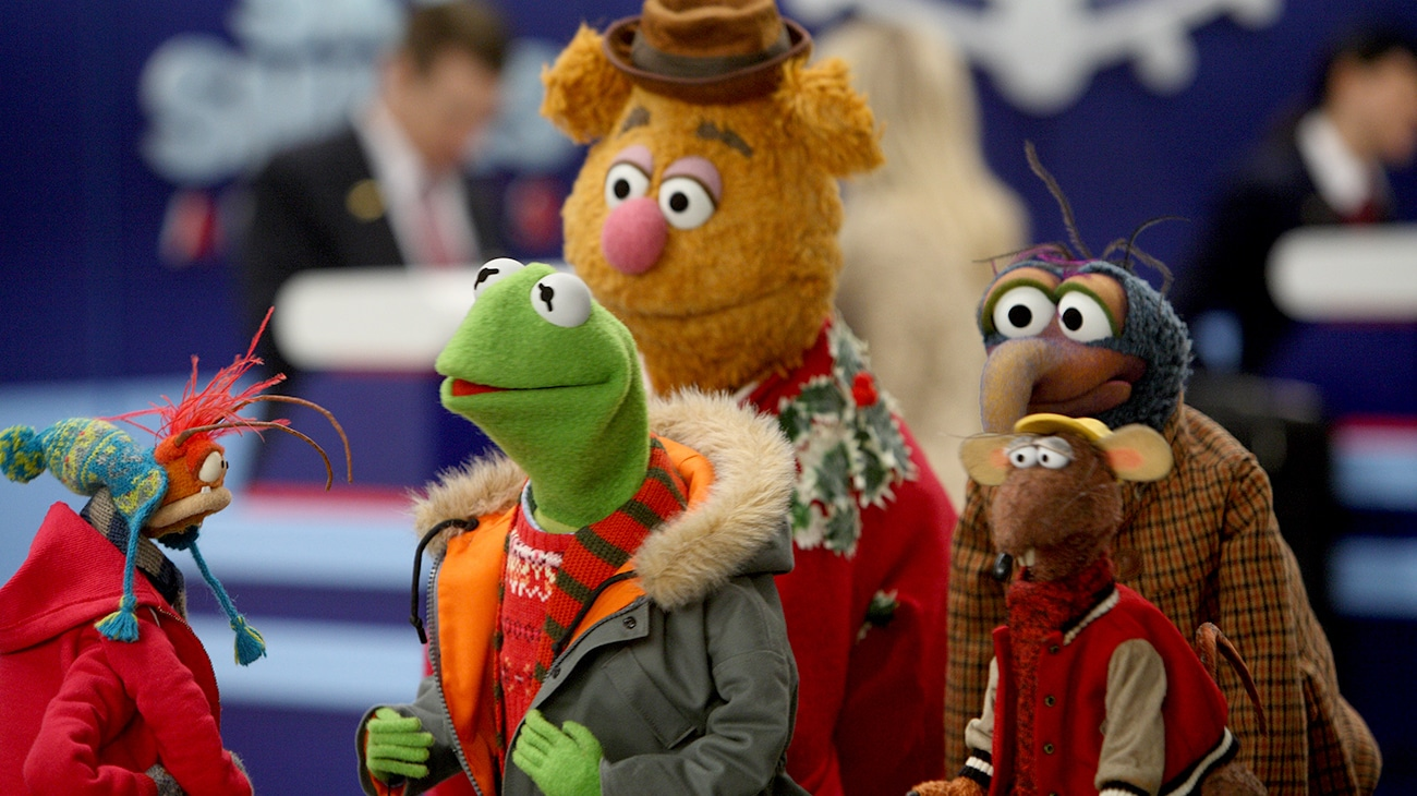 Kermit, Fozzie, Gonzo, and Rizzo in the movie A Muppets Christmas: Letters to Santa