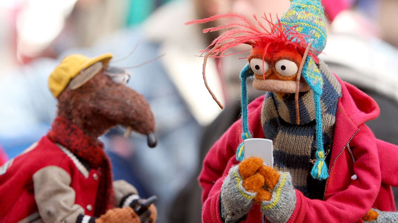 Rizzo and Pepe the King Prawn in A Muppets Christmas: Letters to Santa