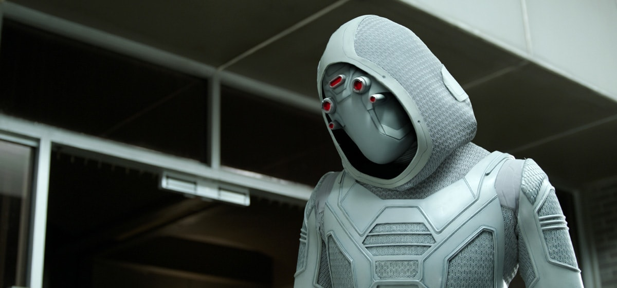 Hannah John-Kamen as Ghost in the movie Ant-Man and the Wasp