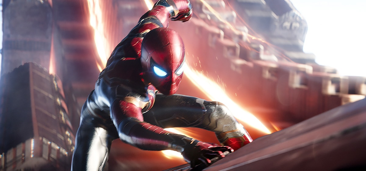Tom Holland as Spider-Man in Avenergs: Infinity War