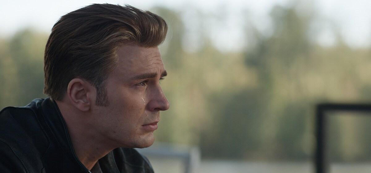 Chris Evans, who plays Steve Rogers/Captain America in Avengers: Endgame, crying