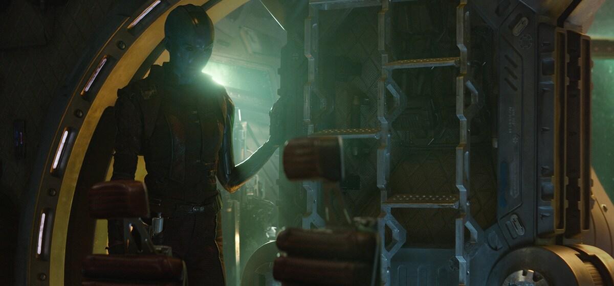 Karen Gillan as Nebula in Avengers: Endgame