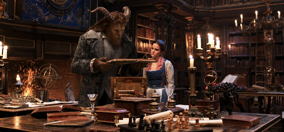 """Emma Watson (as Belle) and Dan Stevens (as Beast) in the movie """"Beauty and the Beast"""""""