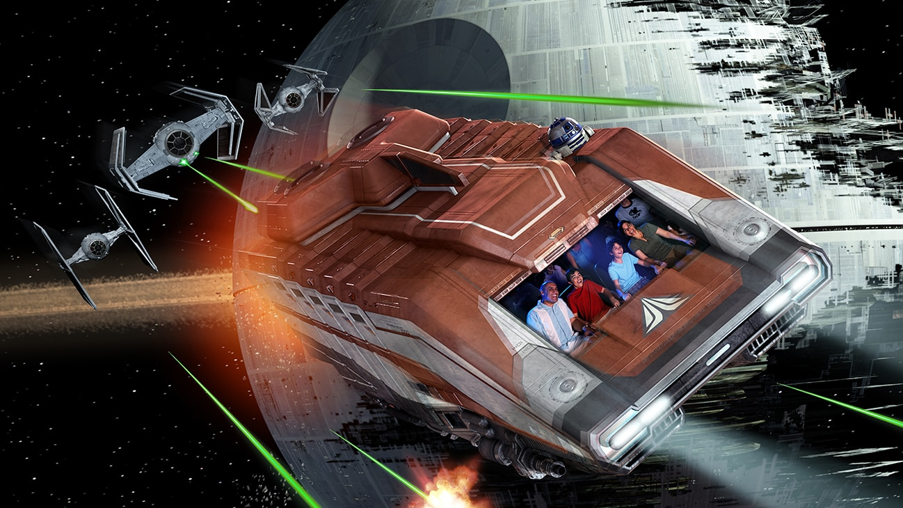 Image of the Star Tours speeder.
