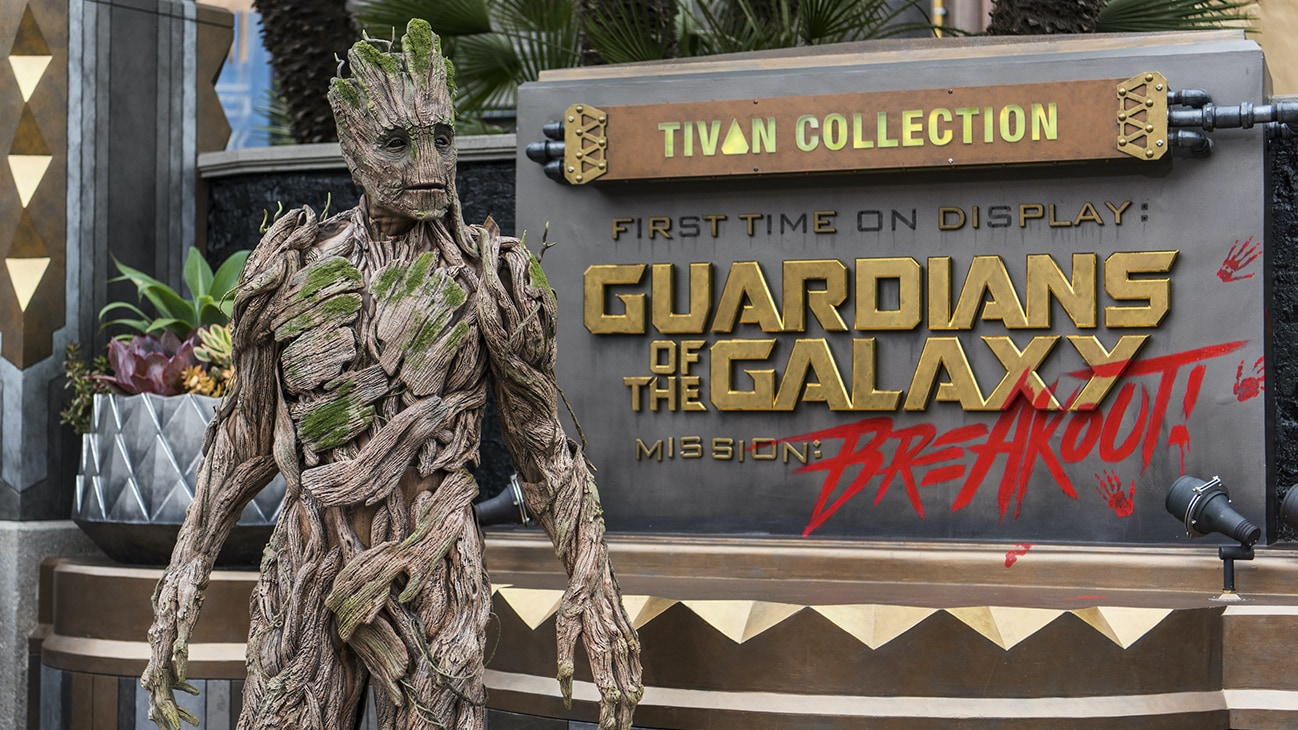 Image of Groot at the Guardians of the Galaxy – Mission: BREAKOUT!