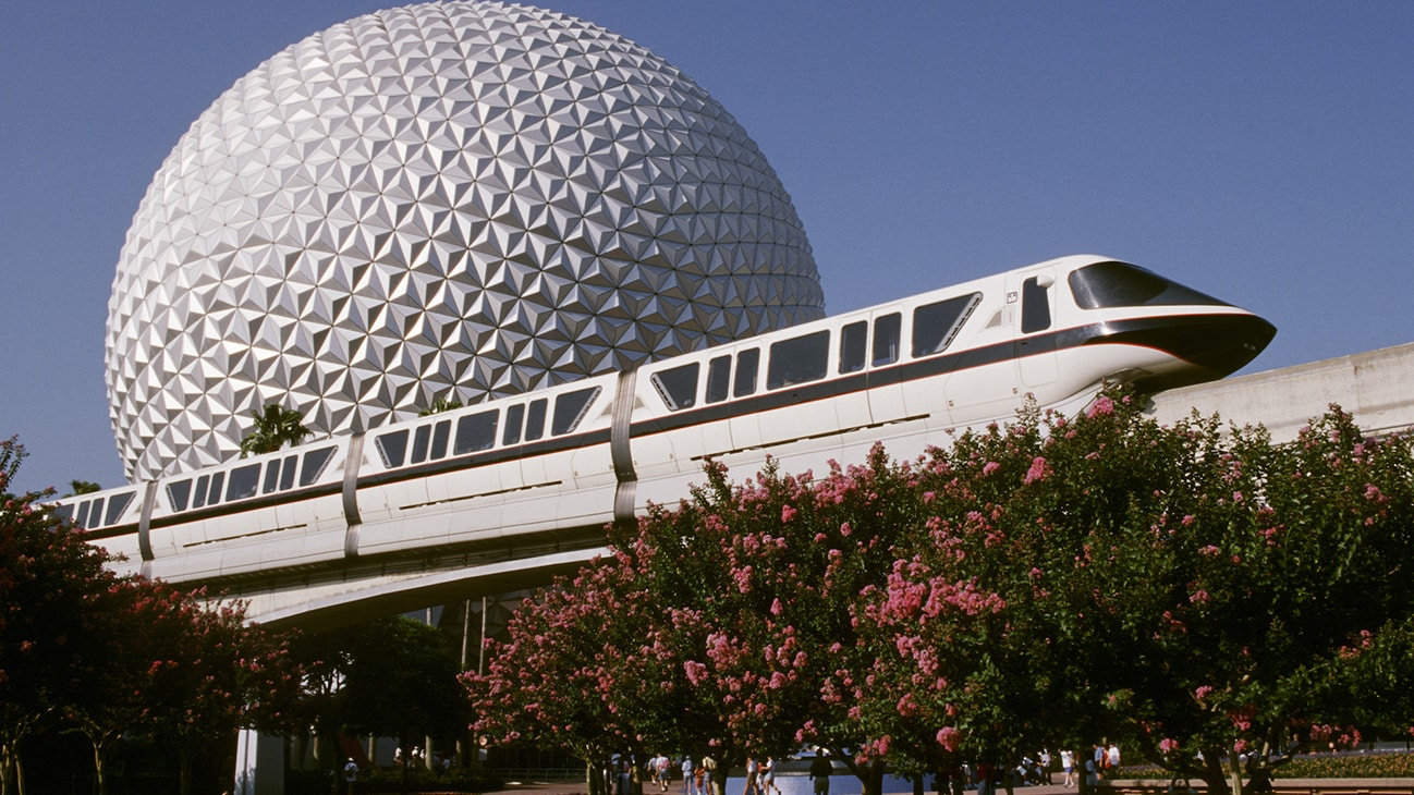 Image of a the Disney monorail.
