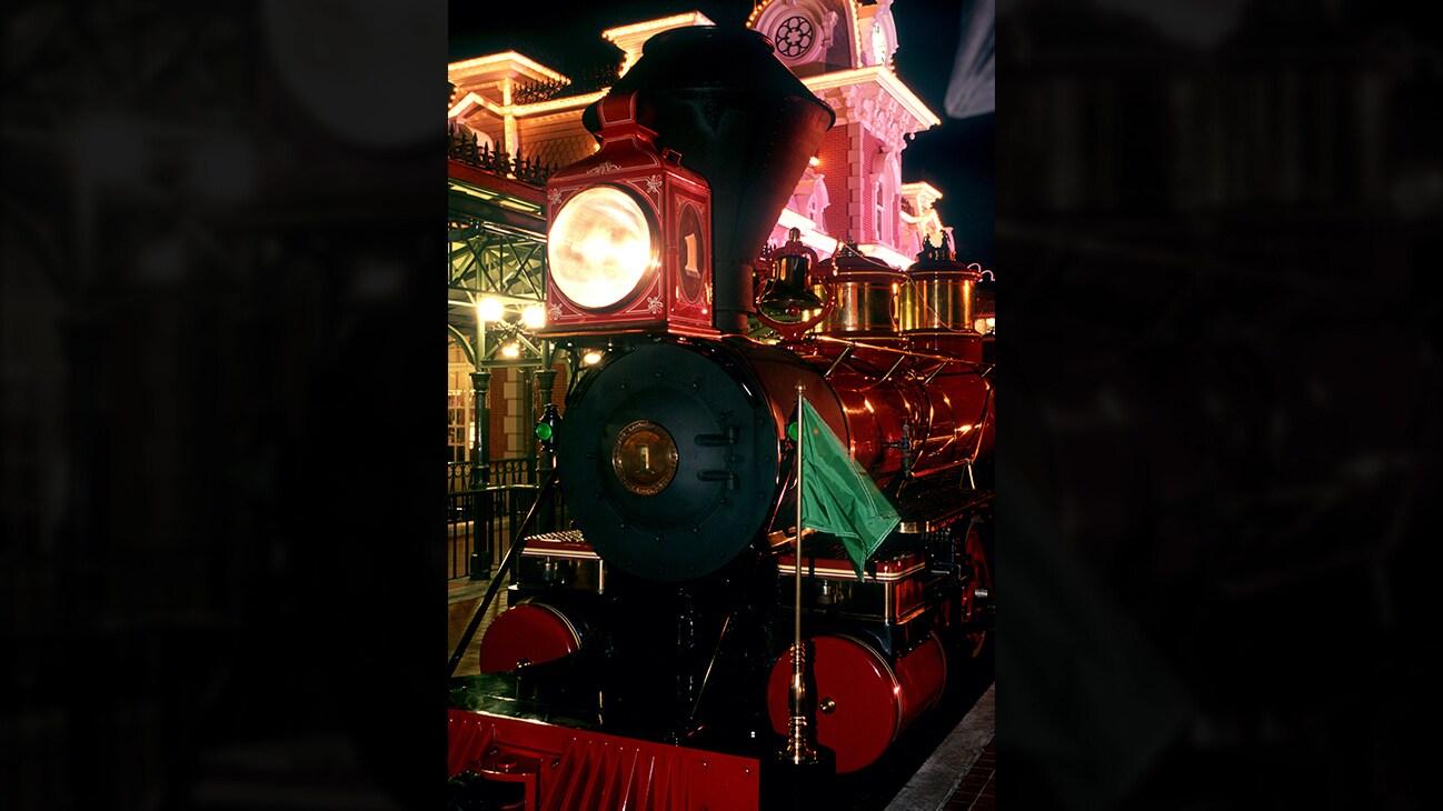 Image of a the Disney train locomotive.