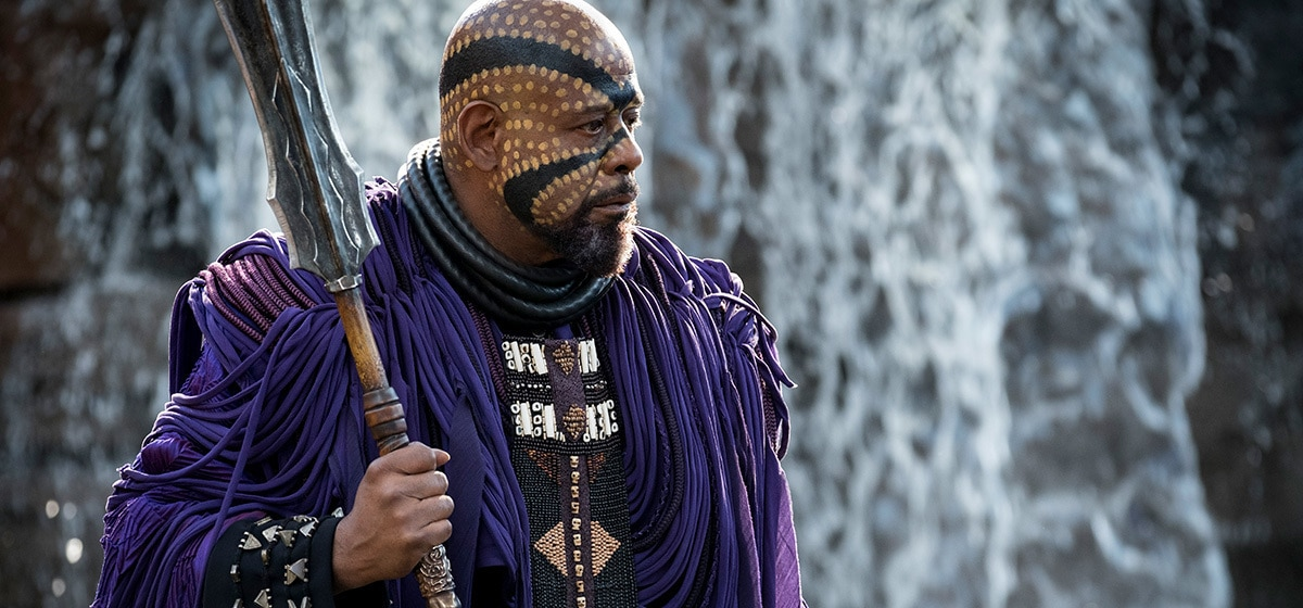 Forest Whitaker as Zuri in Black Panther