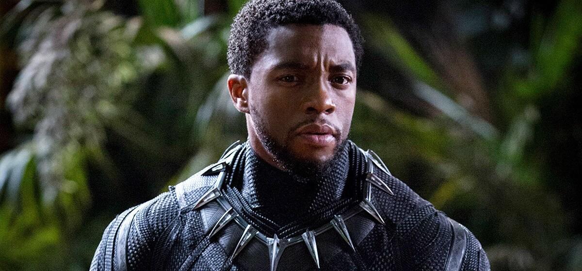 Chadwick Boseman as Black Panther without helmet
